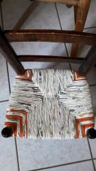 Chaise d enfant paillage tissu